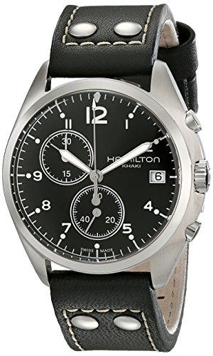 ハミルトン カーキ メンズ 腕時計 Hamilton Men's HML-H76512733 Khaki Pilot Pioneer Analog Display Quartz Black Watch