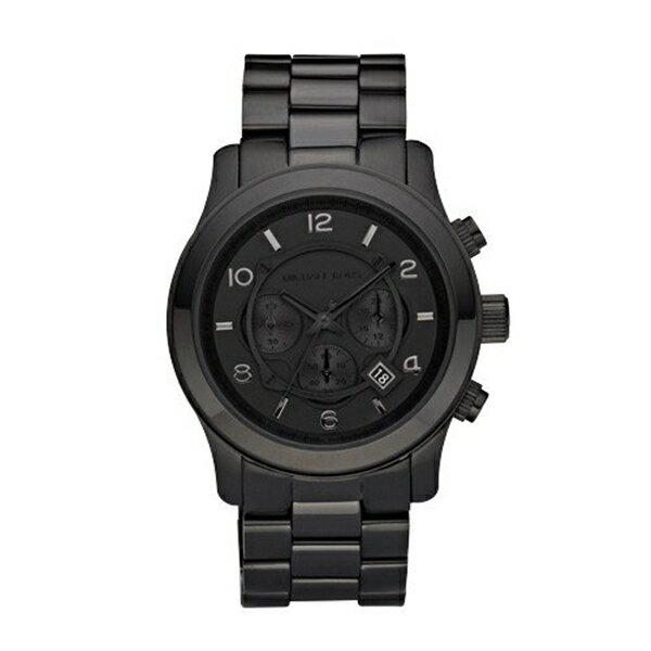 マイケルコース Michael Kors メンズ 腕時計 時計 Michael Kors Watches Michael Kors Men's Black bracelet Chronograph Sport (Black)