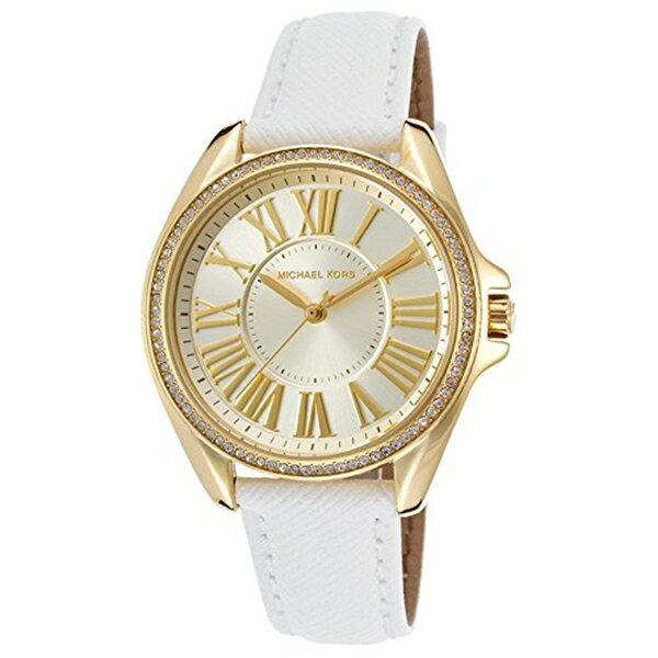 マイケルコース Michael Kors メンズ 腕時計 時計 Michael Kors Kacie Crystal Bezel Leather Strap Watch MK2394