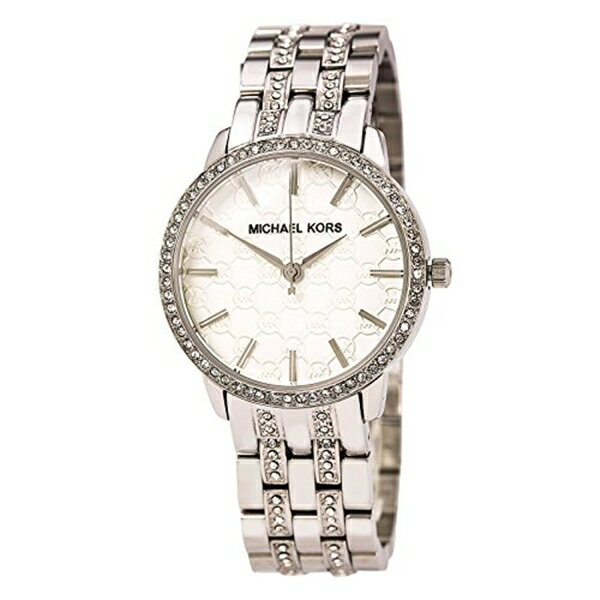 マイケルコース Michael Kors レディース 腕時計 時計 Michael Kors Bracelets Crystal Accents White Dial Women's watch #MK3148