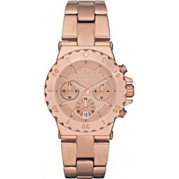 マイケルコース Michael Kors レディース 腕時計 時計 Michael Kors Dylan Chronograph Rose Gold-tone Ladies Watch MK5499