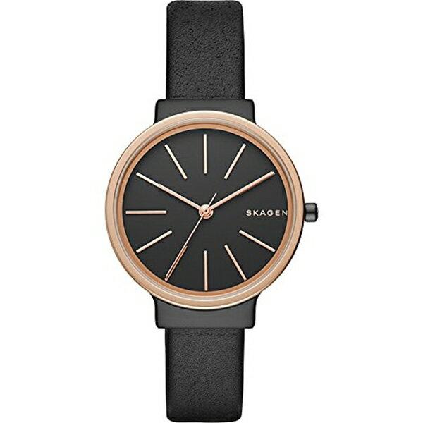 スカーゲン Skagen 腕時計 Skagen Women's SKW2480 Ancher Black Leather Watch