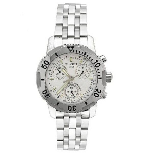 ティソ Tissot 腕時計 メンズ 時計 Tissot Men's T17148633 T-Sport PRS200 Chronograph Stainless Steel Bracelet Watch