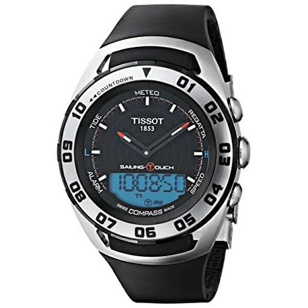 ティソ Tissot 腕時計 メンズ 時計 Tissot Sailing-Touch Mens Rubber Strap Multi-function Watch T056.420.27.051.01