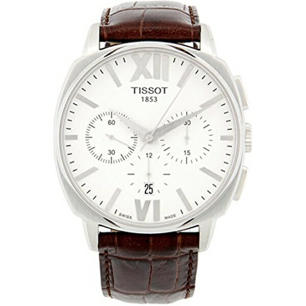 早期完売 ティソ Tissot 腕時計 メンズ 時計 Tissot T-Classic T-Lord Chronograph Automatic White Dial Brown Leather Mens Watch T0595271601800
