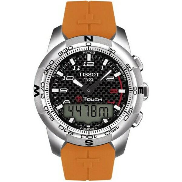【個性派】 ティソ Tissot 腕時計 メンズ 時計 Tissot T-Touch II Black Dial Men's Watch #T047.420.47.207.01