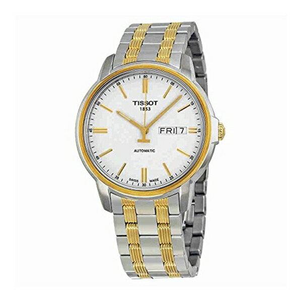 ティソ Tissot 腕時計 メンズ 時計 Tissot T-Classic Automatic III White Dial two-tone Mens Watch T0654302203100