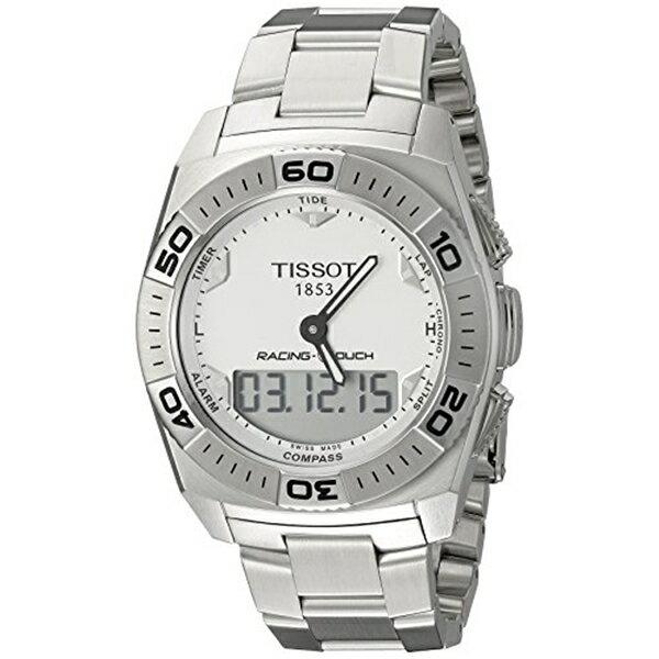ティソ Tissot 腕時計 メンズ 時計 Tissot Men's T0025201103100 Racing-T-Touch Multifunction Analog Digital Chronograph Watch