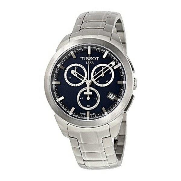 ティソ Tissot 腕時計 メンズ 時計 Tissot Men's T069.417.44.051.00 Quartz Titanium Black Dial Chronograph Watch