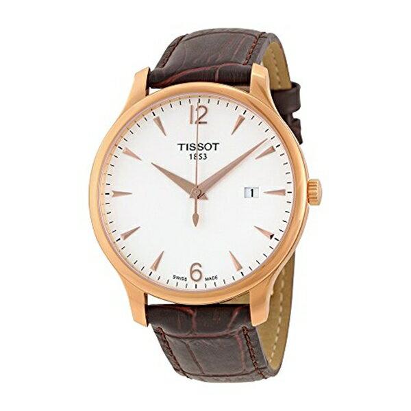 ティソ Tissot 腕時計 メンズ 時計 Tissot Men's T0636103603700 Analog Quartz Brown Leather Strap Silver Dial Watch