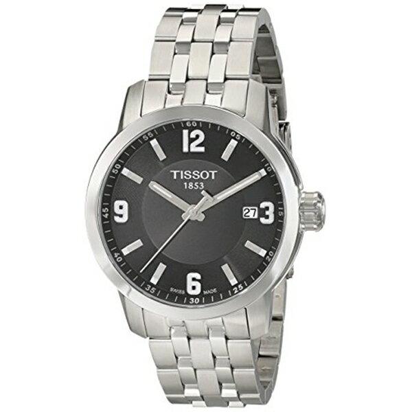 ティソ Tissot 腕時計 メンズ 時計 Tissot Men's TIST0554101105700 PRC 200 Analog Display Swiss Quartz Silver Watch