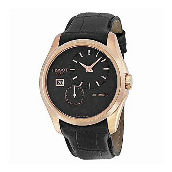 ティソ Tissot 腕時計 メンズ 時計 Tissot Men's T0354283605100 Analog Display Automatic Self Wind Black Watch