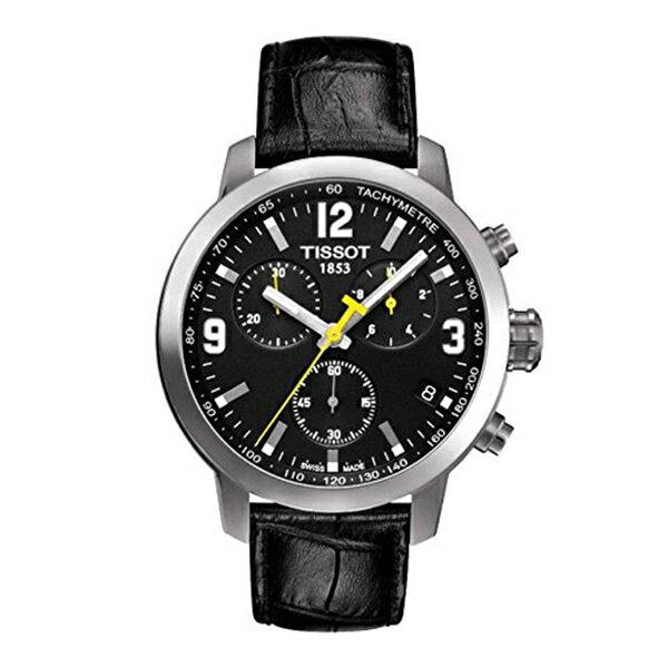 ティソ Tissot 腕時計 メンズ 時計 Tissot Men's Quartz Stainless Steel Casual Watch, Color:Black (Model: T0554171605700)