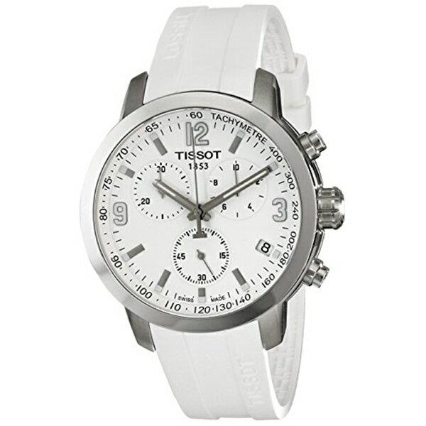ティソ Tissot 腕時計 メンズ 時計 Tissot Men's T0554171701700 PRC 200 Analog Display Swiss Quartz White Watch