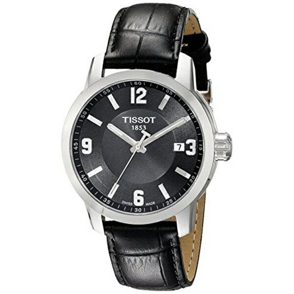ティソ Tissot 腕時計 メンズ 時計 Tissot Men's T0554101605700 PRC 200 Analog Display Quartz Black Watch