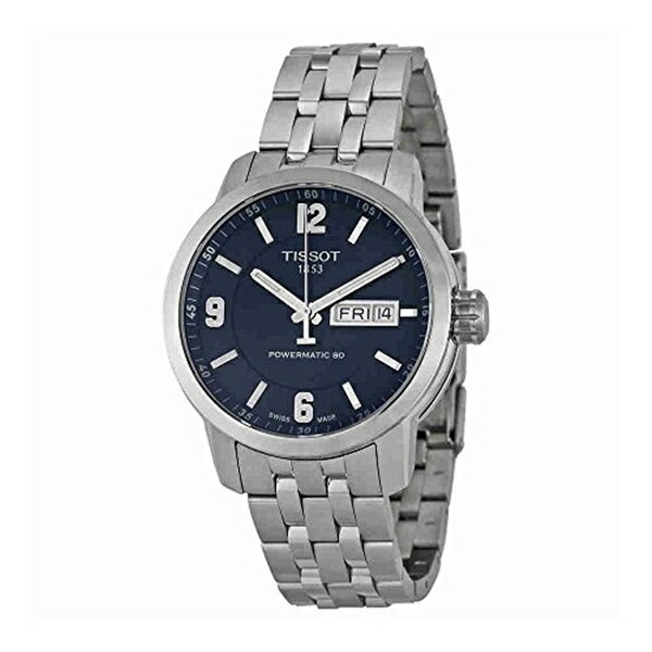 ティソ Tissot 腕時計 メンズ 時計 Tissot Men's T0554301104700 PRC 200 Analog Display Swiss Automatic Silver-Tone Watch