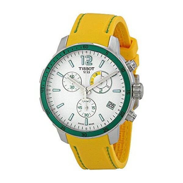 ティソ Tissot 腕時計 メンズ 時計 Tissot Men's T0954491703701 Quickster Analog Display Swiss Quartz Yellow Watch
