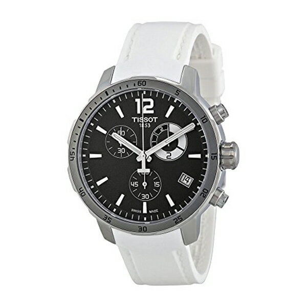 ティソ Tissot 腕時計 メンズ 時計 Tissot Men's T0954491706700 Quickster Analog Display Swiss Quartz White Watch