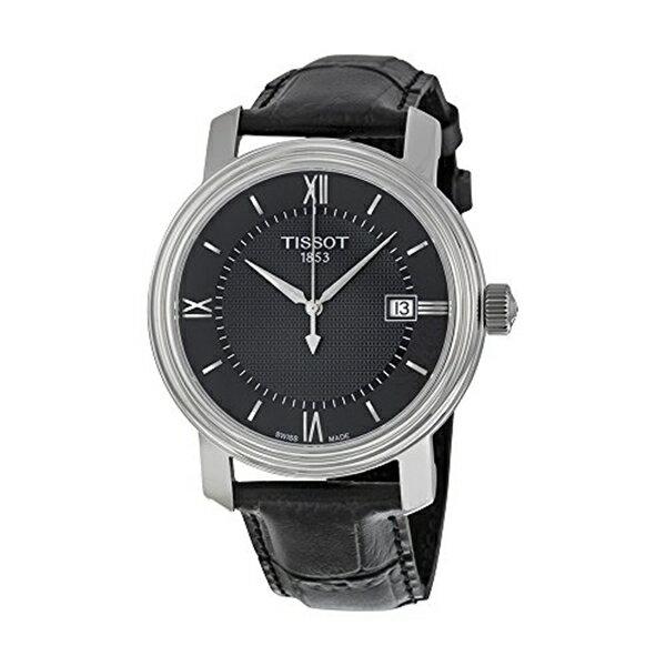 ティソ Tissot 腕時計 メンズ 時計 Tissot Men's Swiss Quartz Stainless Steel and Leather Casual Watch, Color:Black (Model: T0974101605800)