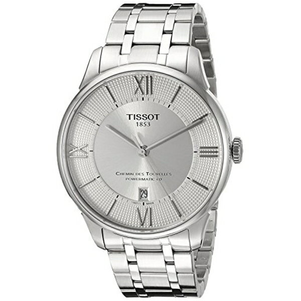 ティソ Tissot 腕時計 メンズ 時計 Tissot Men's T0994071103800 Chemin Des Tourelles Powermatic 80 Analog Display Swiss Automatic Silver Watch