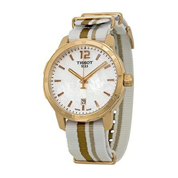 ティソ Tissot 腕時計 メンズ 時計 Tissot Men's 'Quickster' Swiss Quartz Stainless Steel and Nylon Watch, Multi Color (Model: T0954103711700)