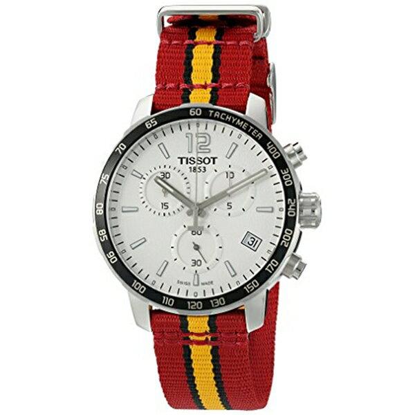 ティソ Tissot 腕時計 メンズ 時計 NBA バスケットボール Tissot Men's 'Quickster' Swiss Quartz Stainless Steel and Nylon Watch, Multi Color (Model: T0954171703708)