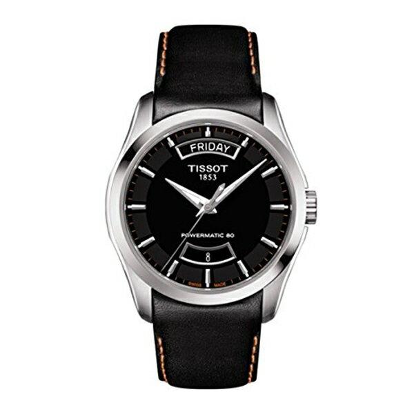ティソ Tissot 腕時計 メンズ 時計 Tissot Couturier Automatic Black Dial Mens Watch T035.407.16.051.03