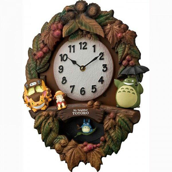 【送料無料】リズム時計 キャラクタークロック トトロ M429 06茶色ボカシ仕上 4MJ429-M06【同梱・代引き不可】