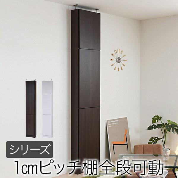【送料無料】 MEMORIA 棚板が1cmピッチで可動する 薄型扉付幅41.5 上置きセット 【代引不可】【同梱不可】