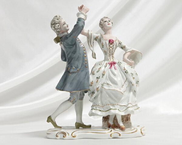 【廃番品】 リチャードジノリ 人形 (ダンスをする男女 H12cm) 【ジノリ リチャード・ジノリ】