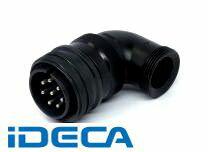 CM76653 【5個入】 丸型 MSコネクタ (L型プラグ / アングルバックシェル付)D/MS3108A(D190)-BASシリーズ 防水・防滴タイプ