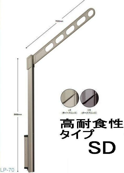 川口技研 腰壁用ホスクリーン上下式 LP-70SD-LB/LP-70SD-DB 高耐食性仕様 1セット(左右1組)
