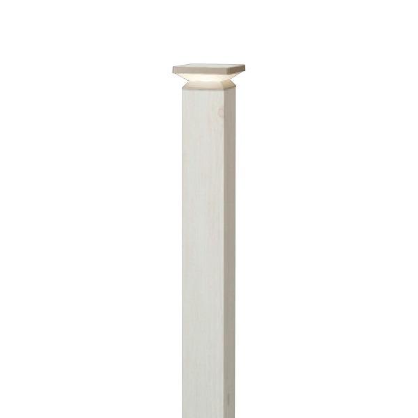 タカショー HFD-D62W エバーアート ポールライト 4型 100V ホワイトパイン (電球色) W105×D105×H840