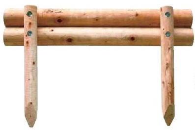 タカショー 二段組木(丸) KBM-25K W1500×H600 φ100 2本入 ※
