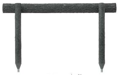 タカショー ワンダーウッドステップ1段 NAE-115 W1500×H500 φ100 ※