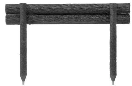 タカショー ワンダーウッドステップ2段 NAE-215 W1500×H700 φ100 ※