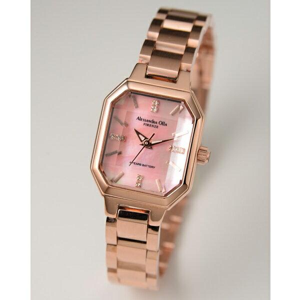 アレサンドラオーラ 腕時計 ALESSANDRA OLLA 時計 AO-3550-2 ピンクゴールド ステンレス ピンクシェル文字盤 レディース 【お取り寄せ】【02P26Mar16】 【RCP】 【_腕時計】