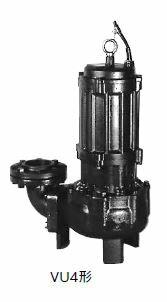 川本 汚物水中ポンプ 4極 50Hz【VU4-505-1.5】フランジタイプ 三相200V 非自動型 VU4形 ボルテックスタイプ
