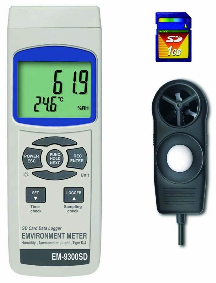 ###ωマザーツール【EM-9300SD】SDデータロガマルチ環境測定器