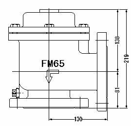 FMバルブ製作所【FMバルブ 1型 65A】(アングル型) 取付タイプ:フランジ型 本体材質:CAC901