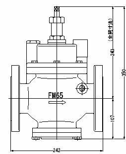 FMバルブ製作所【FMバルブ S-3型 65A】(ストレート型) 取付タイプ:フランジ型 本体材質:FCD450