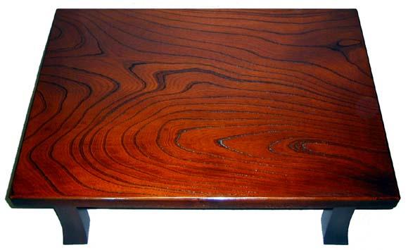 木製 脇机 折り畳み式 スリ漆 85cm