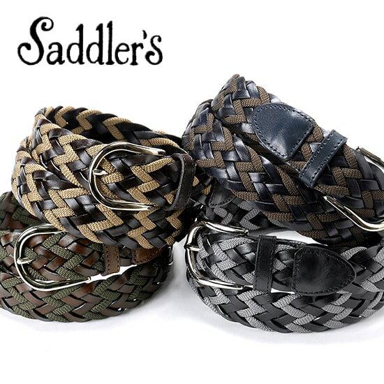 サドラーズ Saddler's / カーフ×レーヨンコンビメッシュベルト『G63』(4 colors)ベルト レザー 革 イタリア製 カジュアル  【ラッピング対応】あす楽対応_