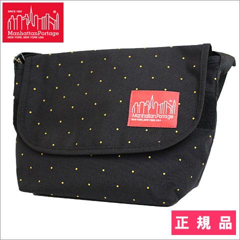 【正規品】【SALE】【限定品】Manhattan Potage(マンハッタンポーテージ)Casual Messenger Bag Pin Dot Print ピン ドット プリント メッセンジャーバッグ ゴールド 1605JRPDT GD SS15
