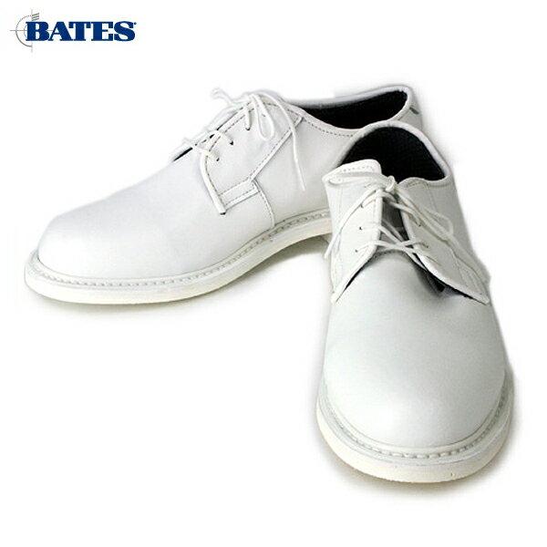 【正規品】【SALE】BATES(ベイツ)Men's Unisex(メンズユニセックス)  OXFORD LEATHER SHOES(オックスフォードレザーシューズ) ホワイト