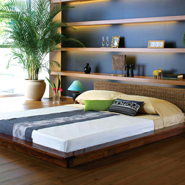 【bed】 ベッドフレーム Dサイズ 【RB-1980-D】 ダブルサイズ アジアンテイスト フレームのみ