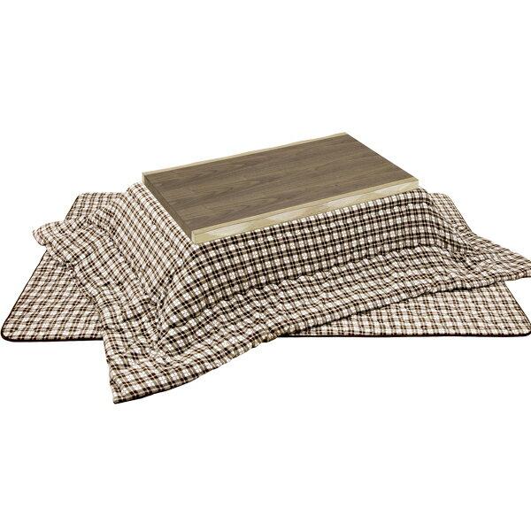 ���セット 長方形 ���本体+掛敷セット 3点 家具調��� ���テーブル (�ウム 120+オー�ー柄ロータイプ 120用)