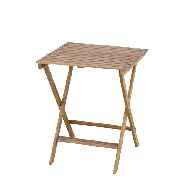 【バロン】 209-XN 折りたたみテーブル ガーデン コンパクト パラソル使用可能 オイル仕上げ 美しい木目のアカシア材を使用 【送料無料】