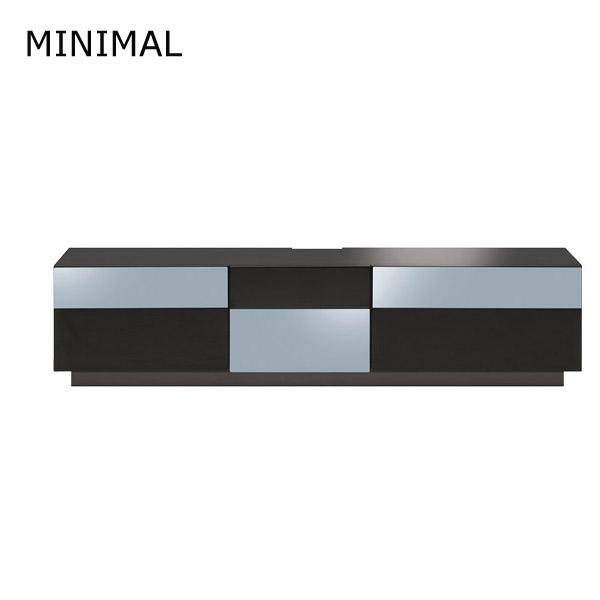 TVボード テレビ台 TV台 AVボード 【MINIMAL テレビボード MIN-150 BK】【送料無料】