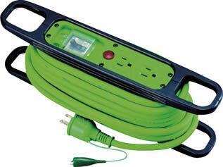 日動 ハンドリール 100V 3芯×10m 緑 アース漏電しゃ断器付 HREB102G